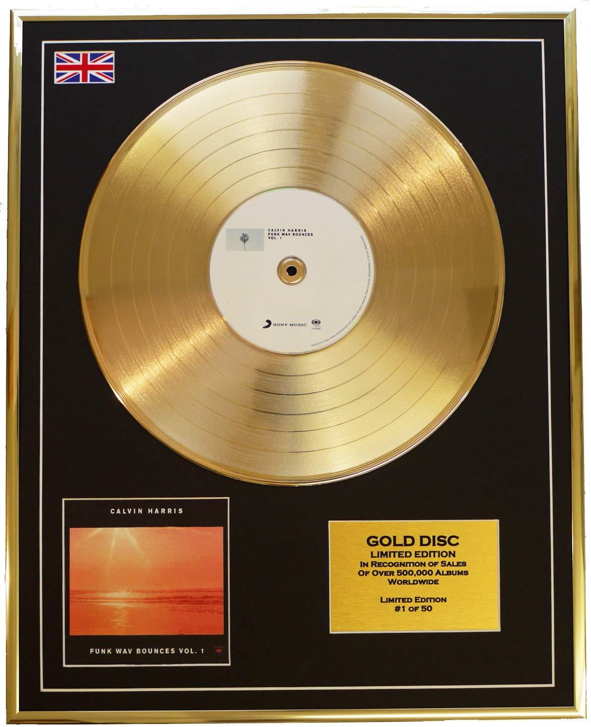 Calvin Harris/CD Disco d'oro Disco Limitata Edizione/Funk WAV BOUNCES Vol.1 Everythingcollectible