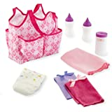 New! You & Me Baby Doll Diaper Tote Bag with Accessories