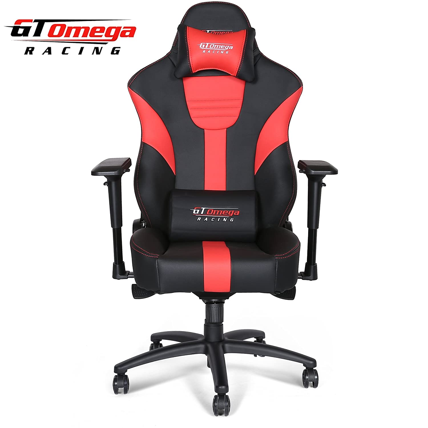 Amazon GT Omega MASTER XL Racing fice Chair Black and Red