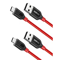 2-Pack Anker PowerLine+ USB C to USB A Charging Cable 3ft