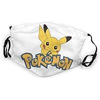 KNJF Pikachu - Pañuelo para la cara de Pokémon para niños, transpirable, lavable y reutilizable, toalla cuadrada