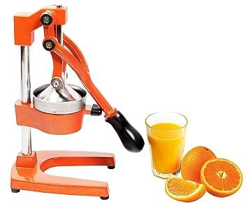 RICOO Exprimidor manual de cítricos RGP101 Exprimidor profesional de frutas y verduras Exprimidor de cítricos, limones y granadas Granada/Naranja/Acero ...
