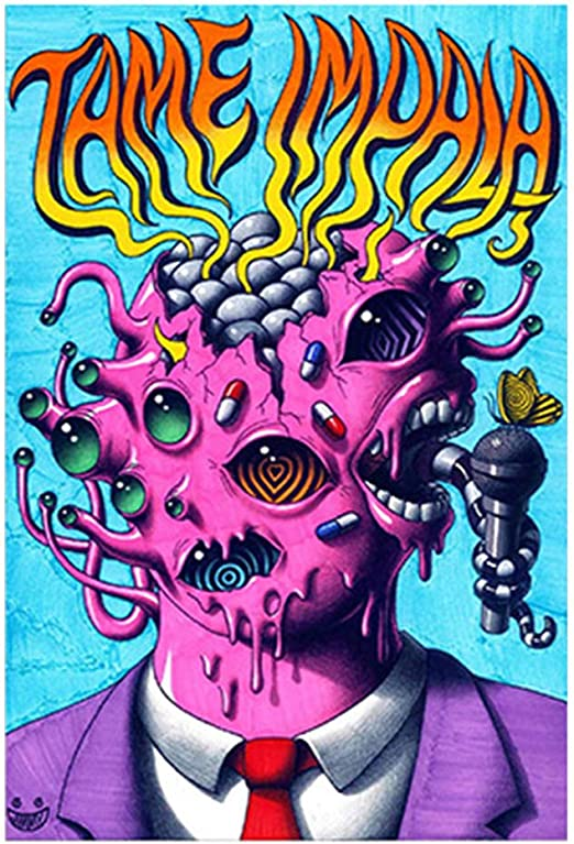 24x36 14x21 40 Poster Tame Impala Psychedelic Rock Band Art Hot P-251
