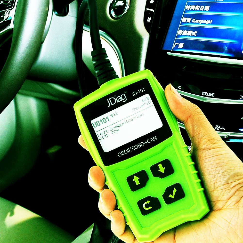 JDiag JD101 OBD2 Code Reader Car Scanner Diagnostic Tool Engine Fault Code Reader Check Engine Light Clear Fault Codes OBDII EOBD Vehicles with Battery Testing Function