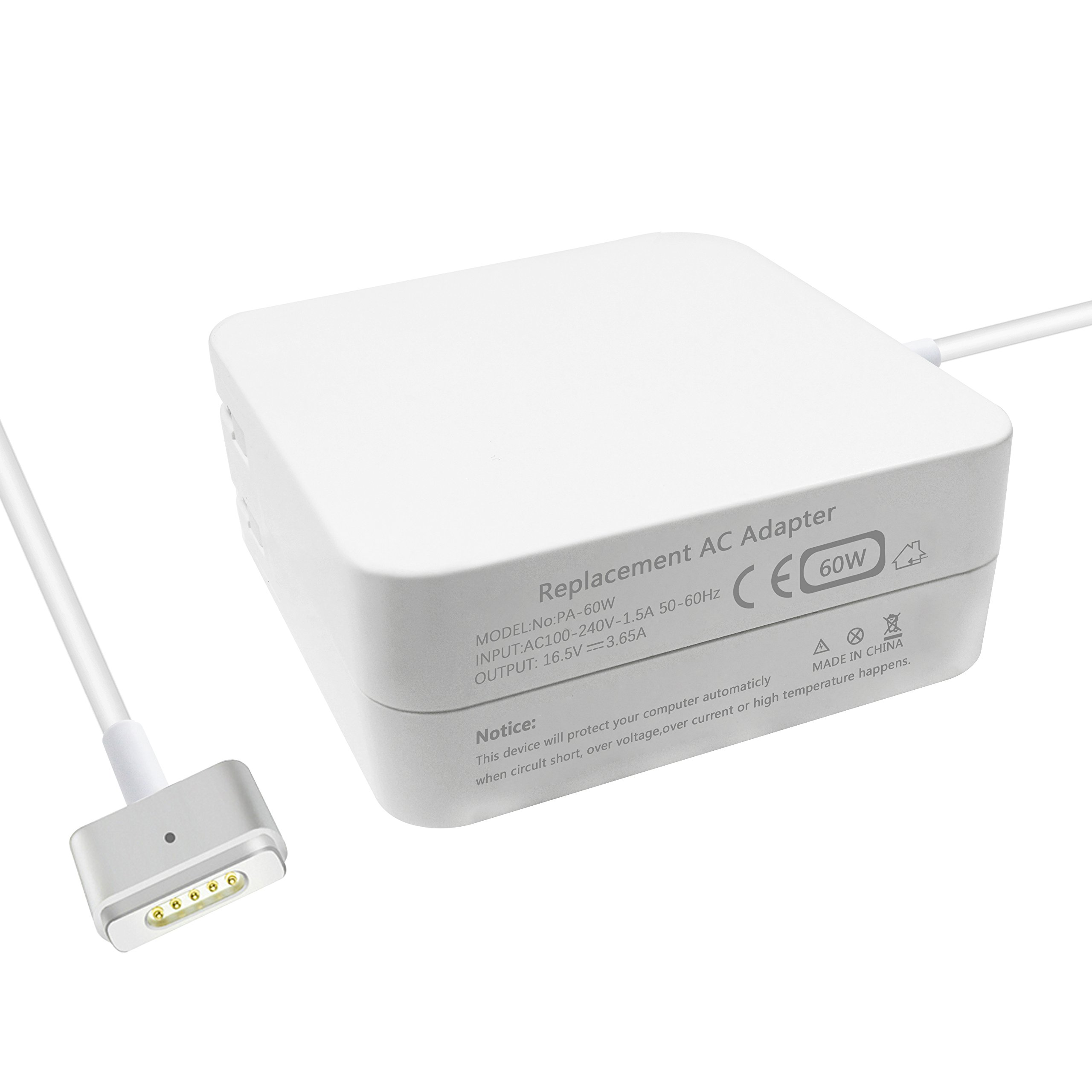 MacBook pro Charger, and Compatible with 45W, Aonear 60W Magsafe 2 T-Tip Replacement Adapter for 13 inch MacBook Pro Charger- After Late 2012 by aonear (Image #6)
