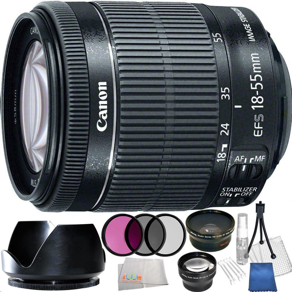 UV CPL FLD White Box + 3pc High Definition Filter Kit Canon 18-55mm is STM Lens