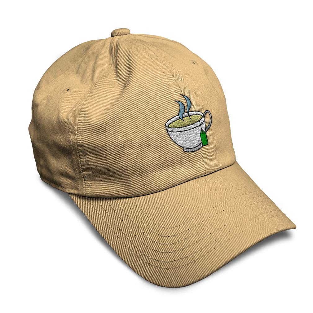 Custom Soft Baseball Cap Chamomile Tea Cup Embroidery Dad Hats for Men /& Women