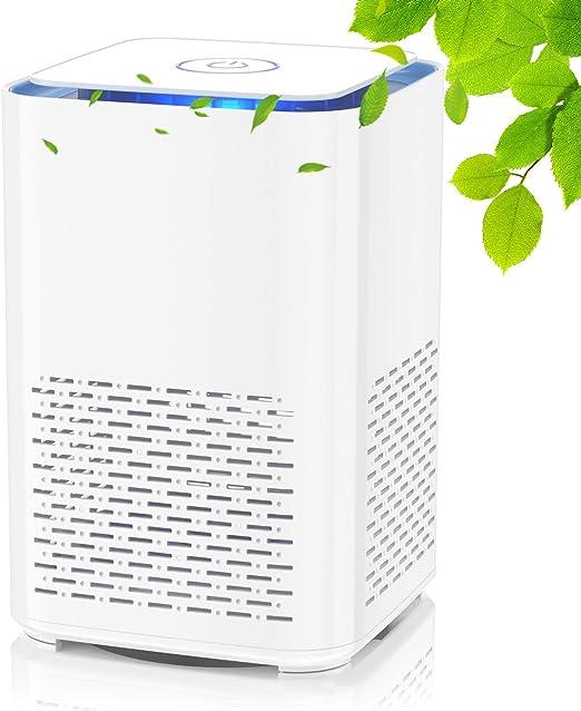 QUARED Purificador de Aire Portátil con Filtro HEPA, USB Filtro de Aire de Escritorio, con Función de Aromaterapia, Luz Nocturna, para Elimina Polvo, Polen, Humo, Hogar y Oficina (SY-702): Amazon.es: Hogar