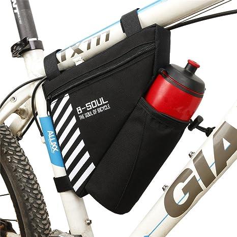 UPANBIKE Bike Triangle Cadre Sac 1.5L Polyester Sac de Tube Avant Sac de Selle de v/élo avec Support pour Bouteille deau Bouteille deau Ont Inclus
