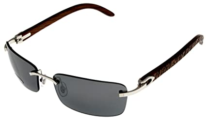 6a8a3cb0bf Image Unavailable. Image not available for. Color  Cartier Sunglasses C  Decor Rimless Silver Unisex ...