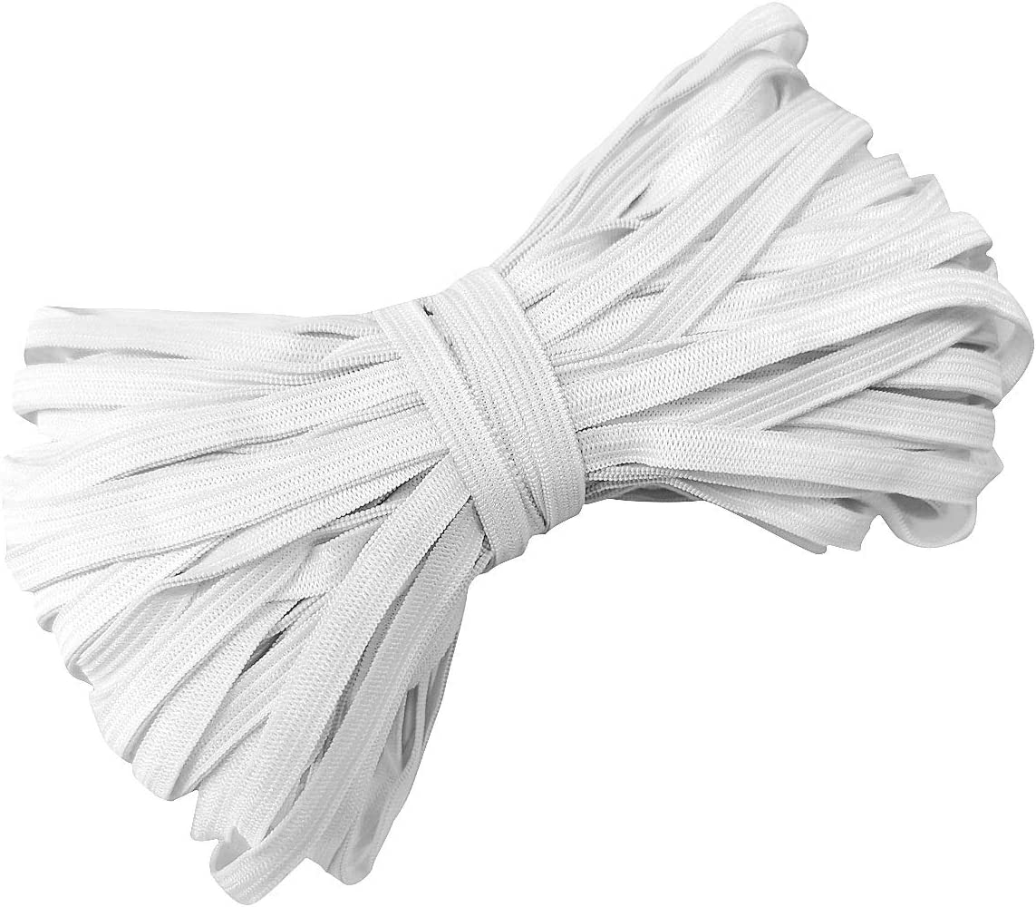 for Arts /& Craft White SUNTQ Elastic Cord 6mm x 10m Sewing Elastic High Quality Elastic Flat Band Stretchy Cord for Skirts and Trousers Waistbands Clothing