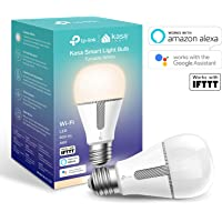 Kasa Smart WiFi Light Bulb by TP-Link, E27/B22, 10W, Works with Amazon Alexa (Echo and Echo Dot), Google Home and IFTTT, All Shades of White, Dimmable, No Hub Required