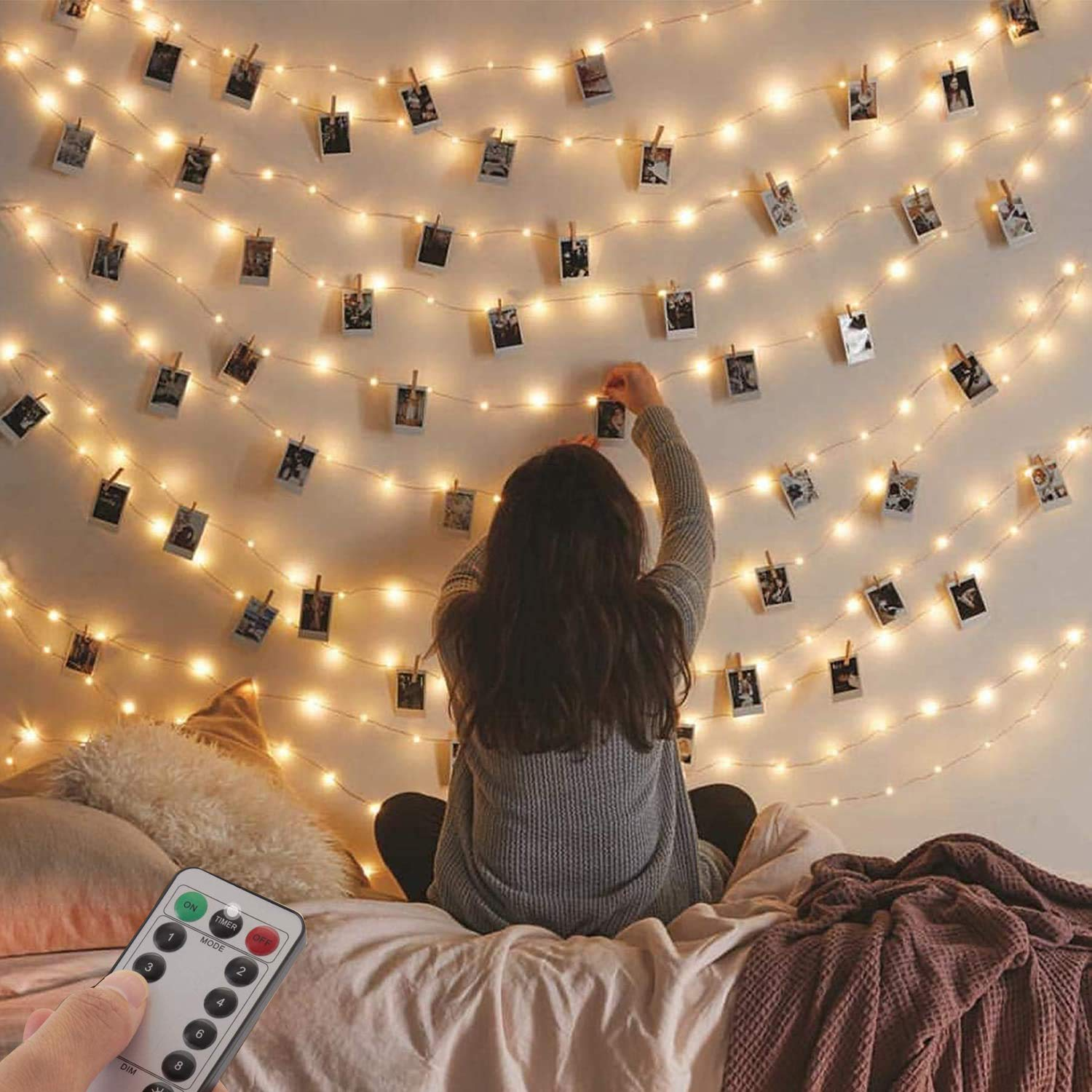 2 Pack Fairy String Lights, 120LED 12M USB Plug in Powered Lights Waterproof Outdoor/Indoor Copper String Lights for Girls Boys Bedroom, Party, Wedding, Birthday, Party, Christmas, Decoration