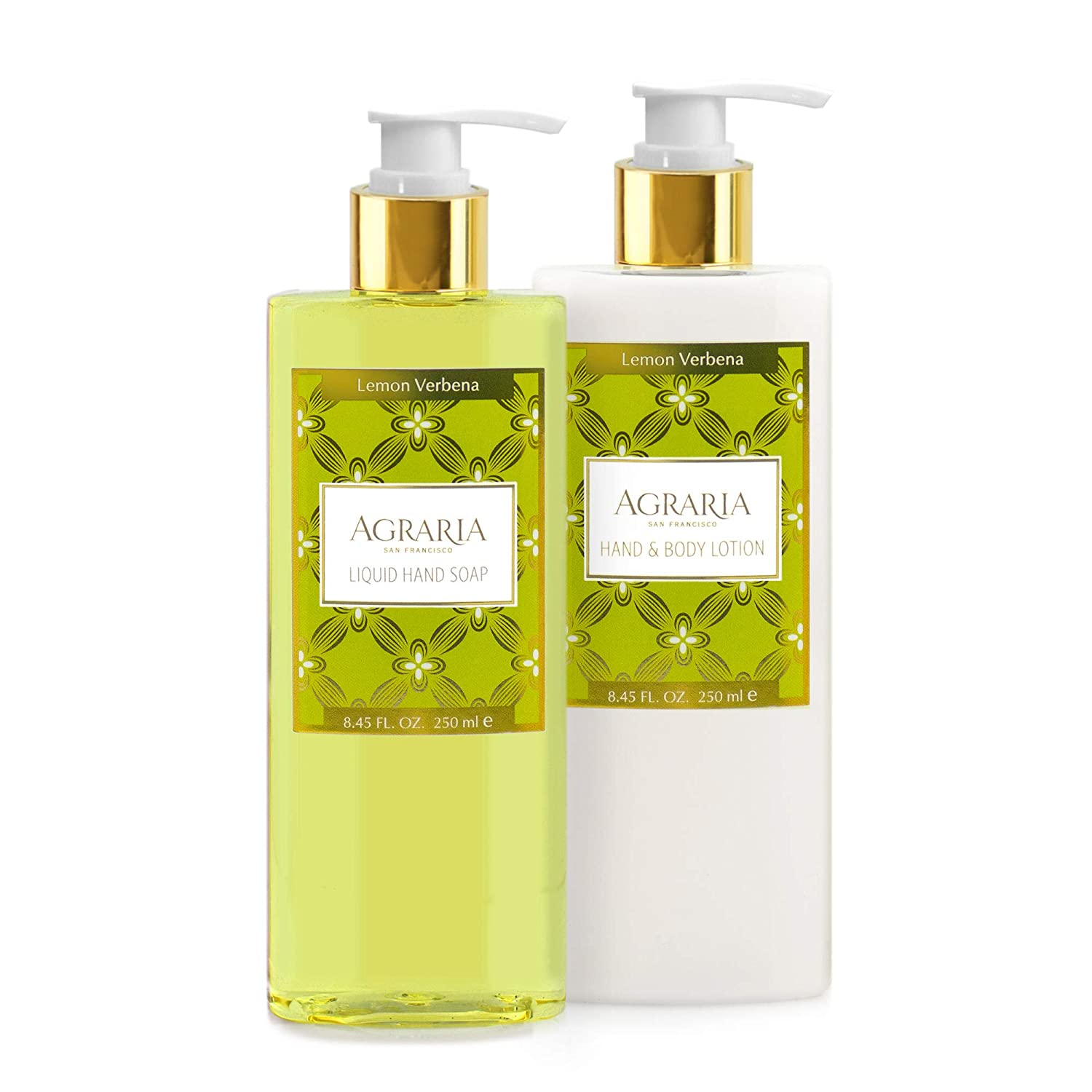 AGRARIA Lemon Verbena Luxury Lotion and Liquid Hand Soap Duo