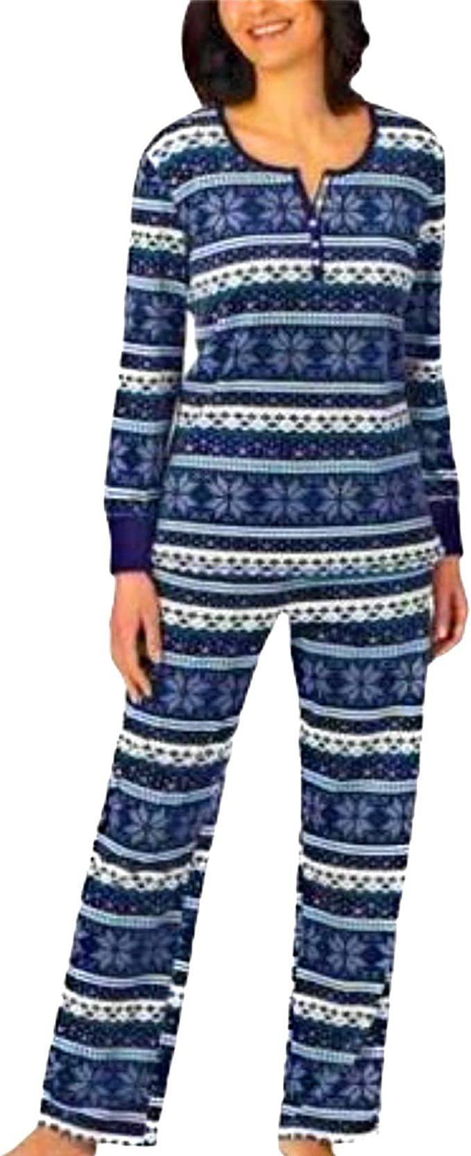 WOMENS NAUTICA 2 Piece PAJAMA LOUNGE SET MICROFLEECE polka dots Plaid stripes PJ