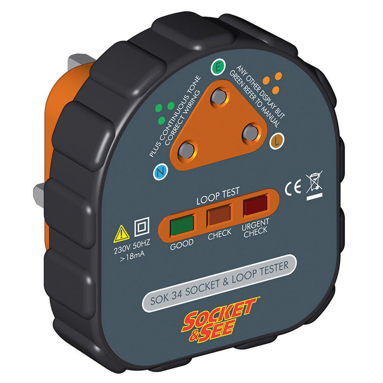 Socket & See SOK34 Easy Socket and Earth Loop Tester SOC/SOK34
