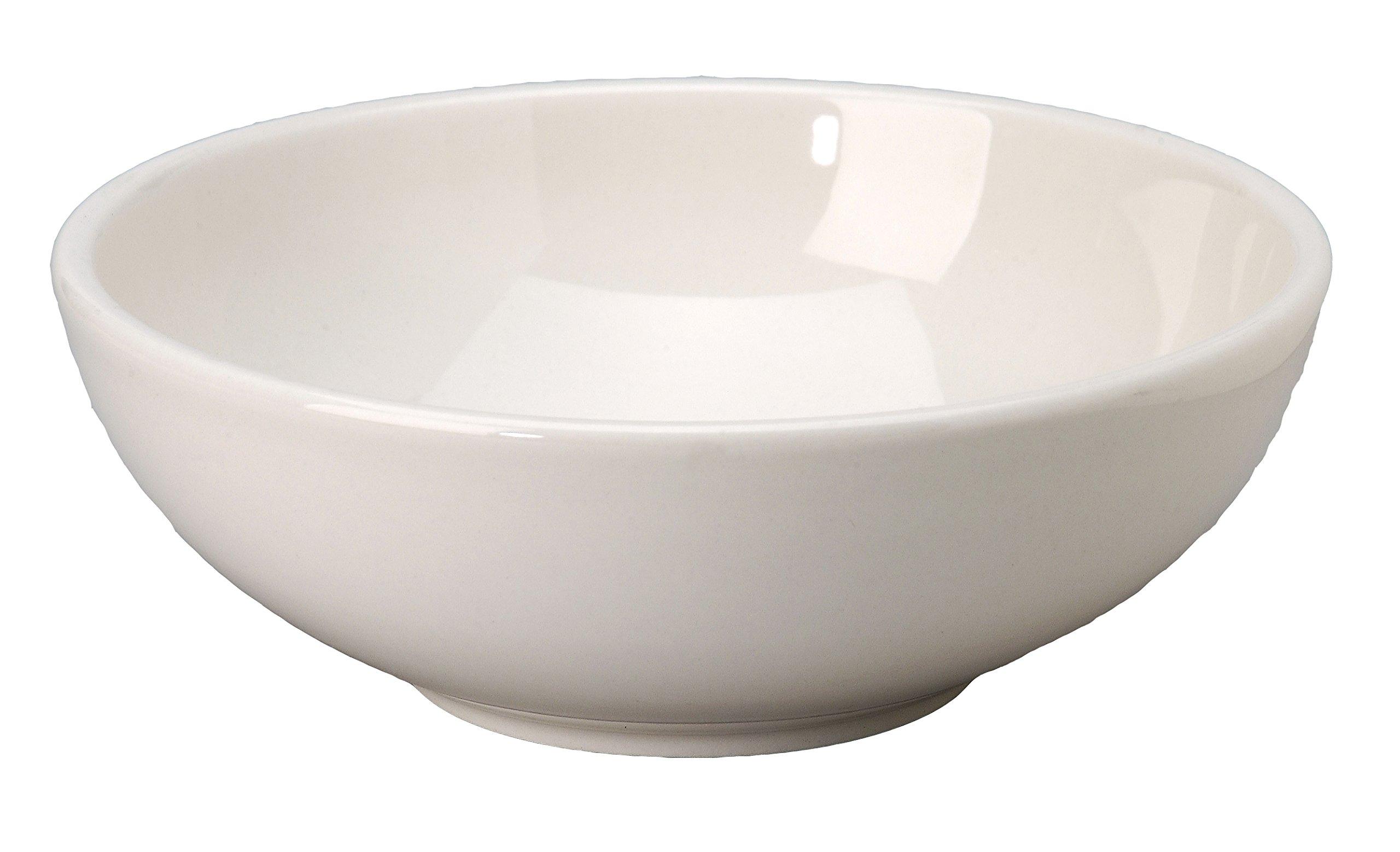 Vertex China VRE-82 Vista Pasta/Salad Bowl, 9'', 60 oz., Bone White (Pack of 12)