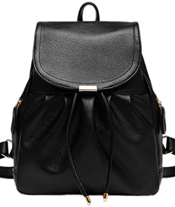 Coofit Backpack for Girls Chic PU Leather Outdoor Daypack Cute Shoulder Bag