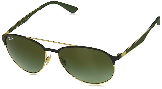 1f8aca058f Amazon.com: Ray-Ban Men's 0rb3606 Aviator Sunglasses, GOLD ON TOP ...