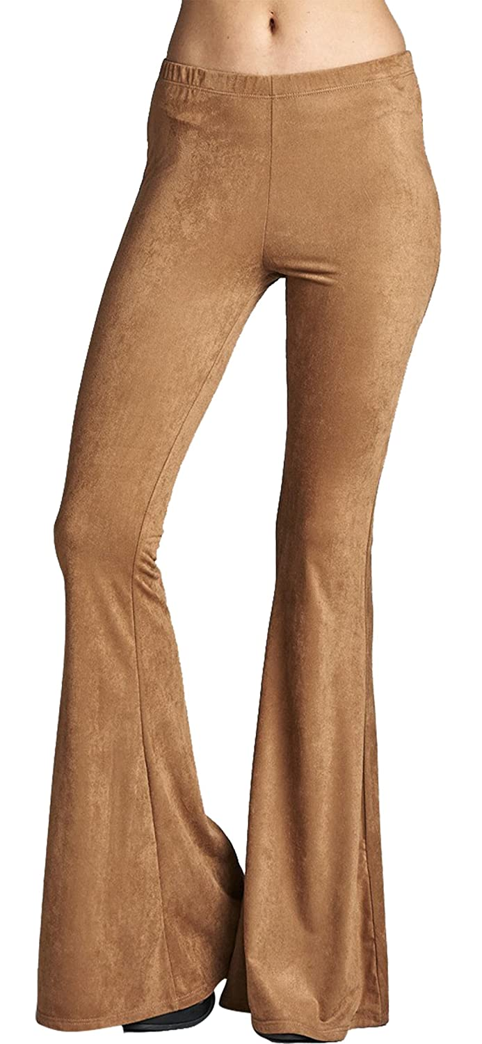 61db6fbecf9b65 Daisy Del Sol\'s pull-on stretch knit high waist bell bottoms are now  available in a beautiful soft suede fabric! High rise, stretch fabric and  amazingly ...