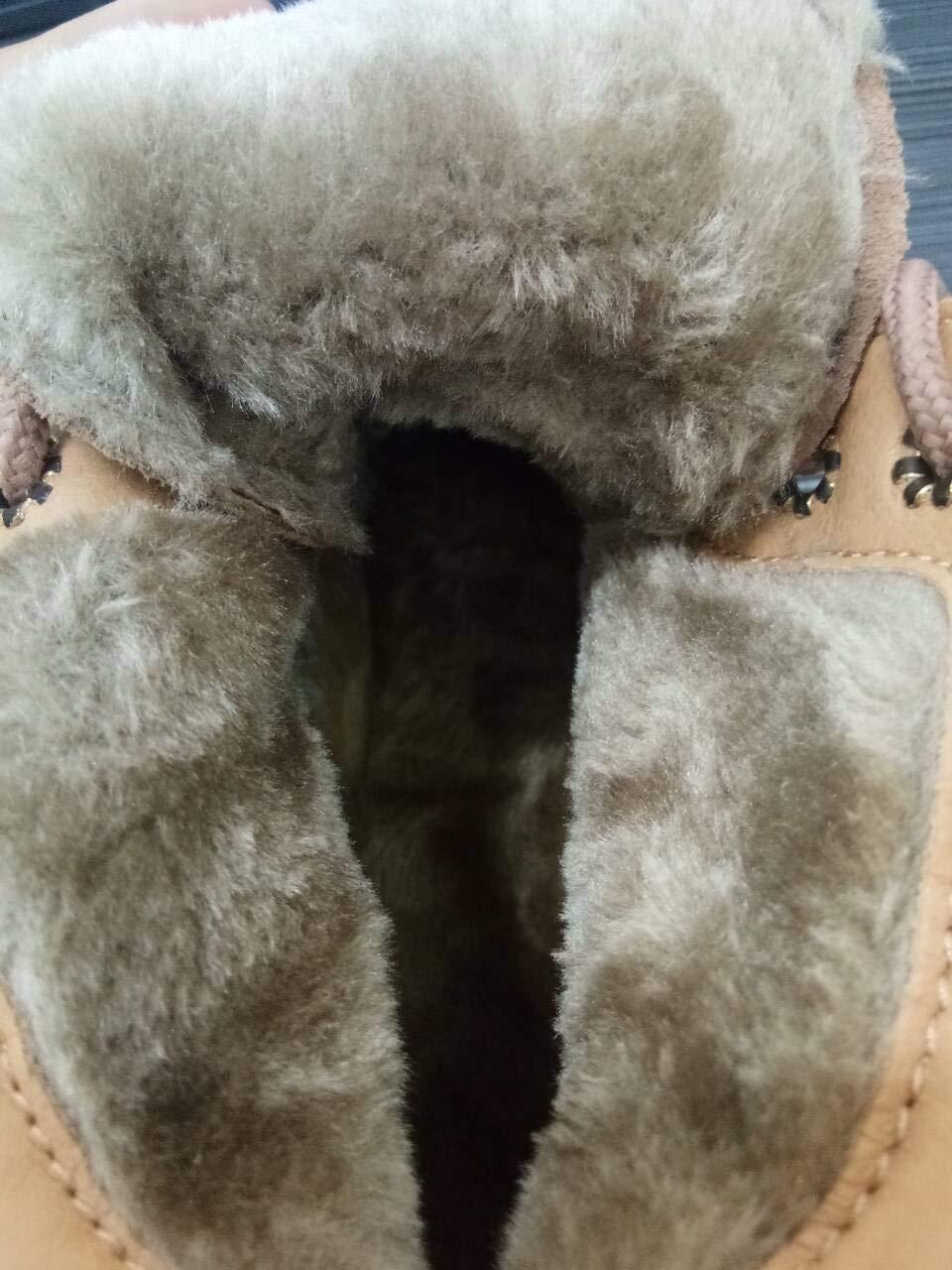 Phy schuhe Herbst und Winter weibliche Leder Nubukleder Plattform Mode Student weibliche Stiefeletten Stiefel, braun rot Baumwolle, 37