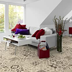 L/änge variabel Meterware livingfloor/® PVC Bodenbelag Bruchstein Granit Grau 2m Breite Gr/ö/ße:4.00x2.00 m