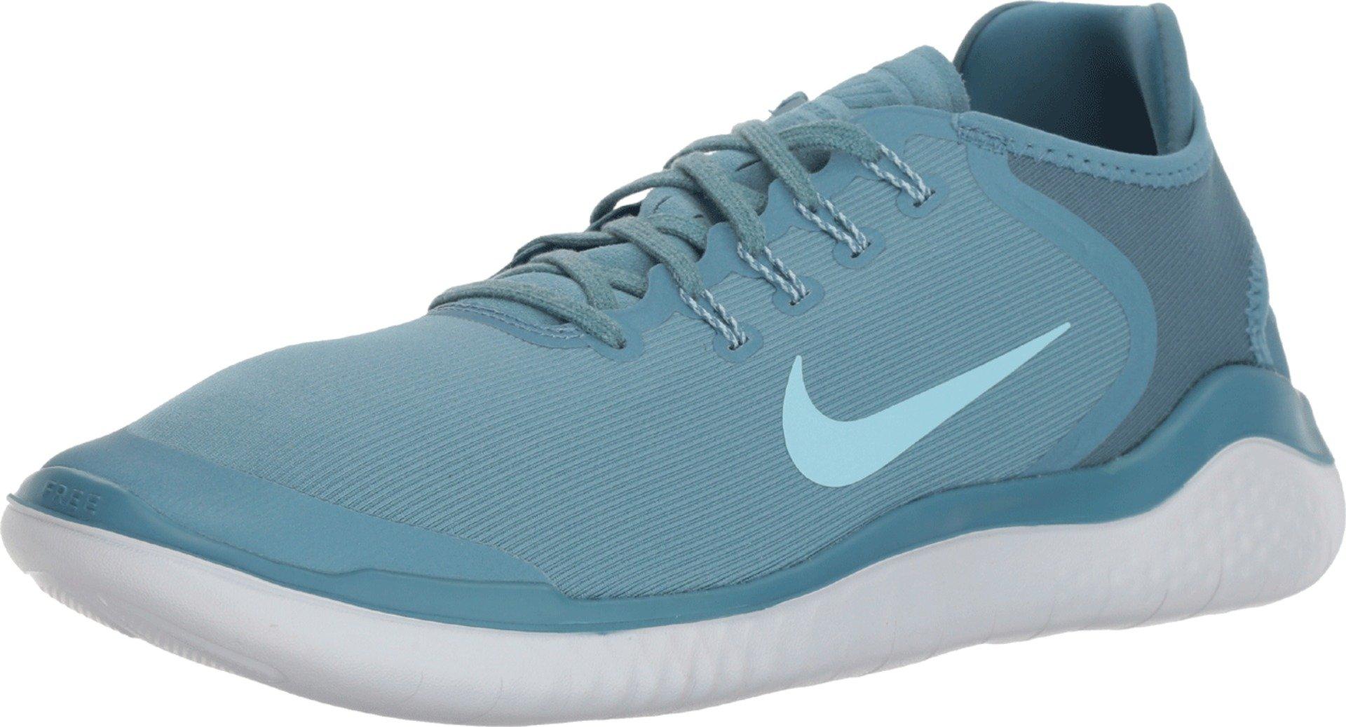 Nike Free RN 2018 Sun Running Shoe (8 D(M) US, Noise Aqua/Pure Platinum) by Nike (Image #1)