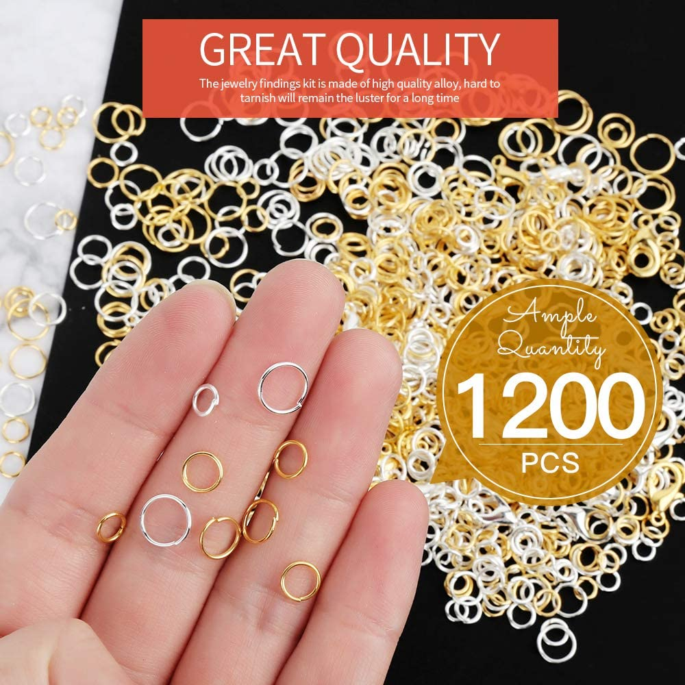 Gold Jewelry Supplies Brass Rings 1200 Gold Jump Rings Gold Open Jump Rings Gold Jewelry Components Gold Findings 4mm Jump Rings