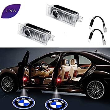 2 Pcs Car Door LED Logo Puddle Lighting Side Projector Ghost Shadow Lights Courtesy Step Welcome Light Projector Lamps