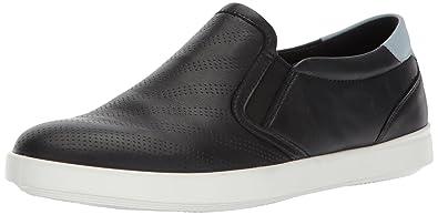 ECCO Women's Women's Aimee Perforated Slip on Fashion Sneaker, Black Arona,  35 EU/