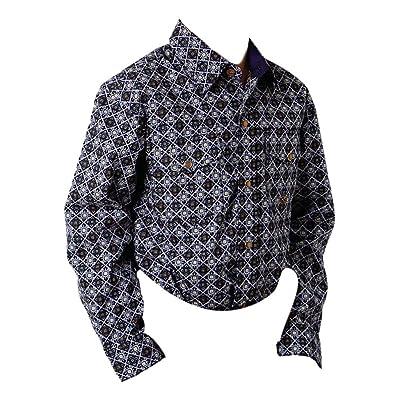 Roper Western Shirt Boys L/S Print Snap Purple 03-030-0225-0194 PU