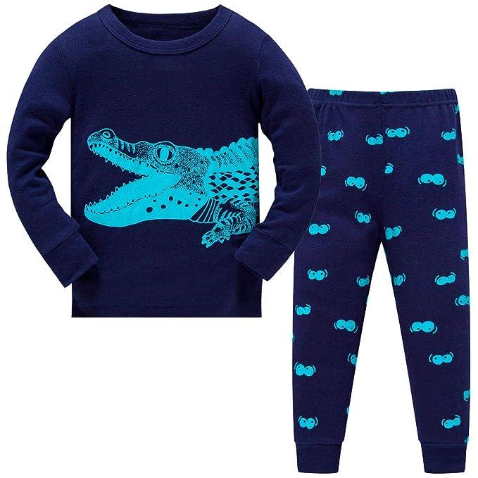 Amazon.com: Schmoopy Dinosaurio Pajamas para niños de 2 a 7 ...