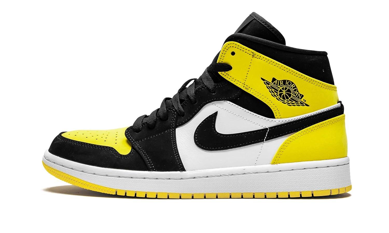 size 40 fa1ec 9f6e0 Amazon.com | Jordan Air 1 Mid Se (Black/Black-Tour Yellow 13 ...
