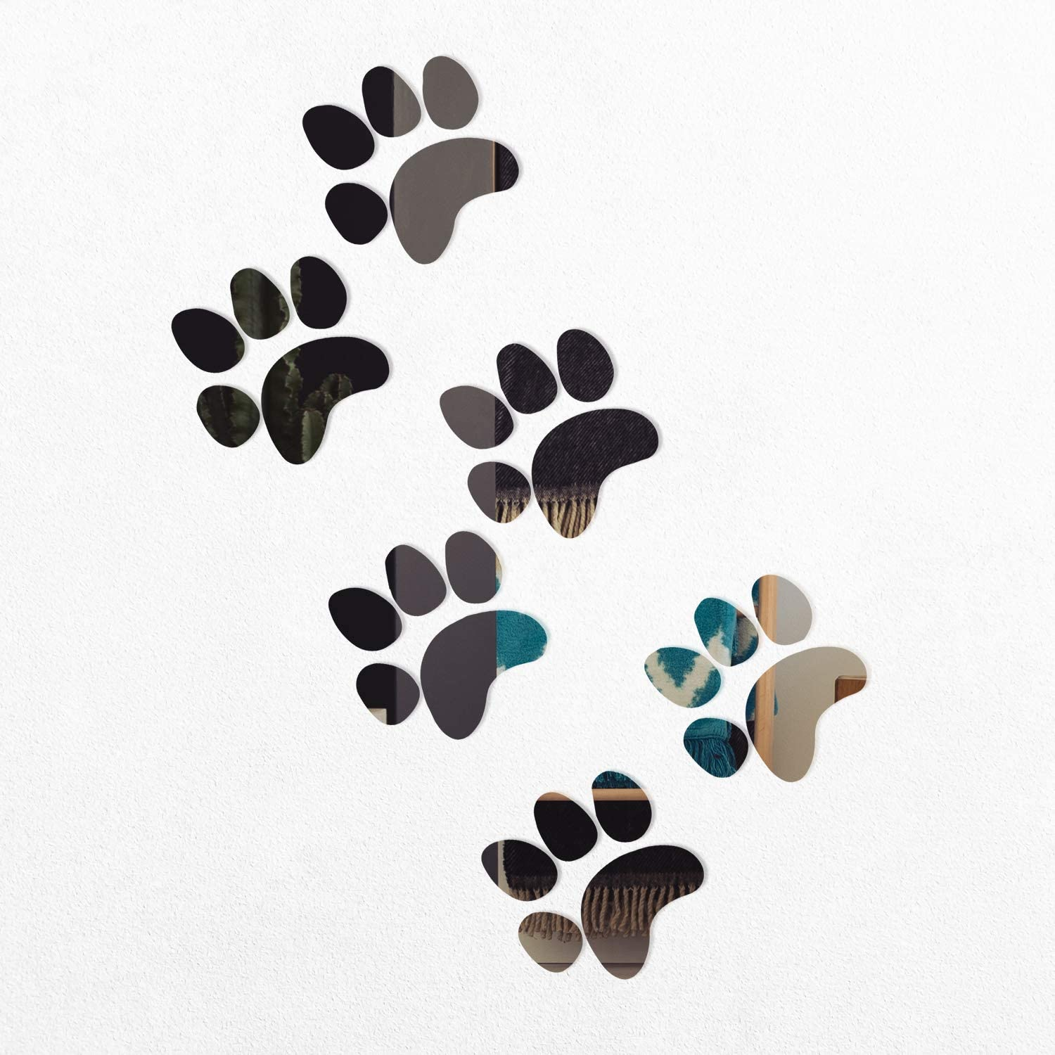 12 Cats Paws 8x8cm paws sticker Car Wall Decal