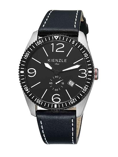 Kienzle K8041123011-00139 - Reloj analógico de cuarzo para hombre con correa de piel,
