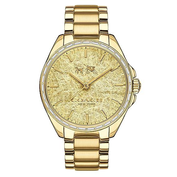 89c77056383e Coach Womens Tristen 14502458 Dorado Dial Acero inoxidable Glitz – Reloj