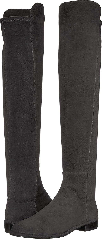 Stuart Weitzman Women's Allgood Knee High Boot B077DMWHYC 8 B(M) US|Anthracite Suede