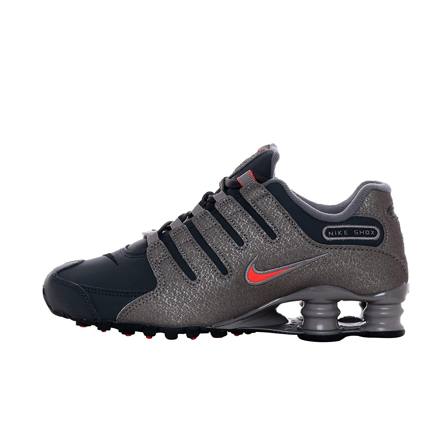 4810cf9b9015 ... promo code for sale amazon nike womens shox nz sneakers new pewter  brown crimson 636088 003