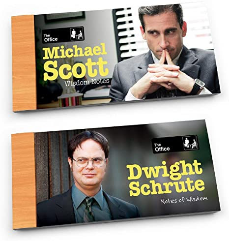 The Office Wisdom Notes, Dwight and Michael, Set of 2
