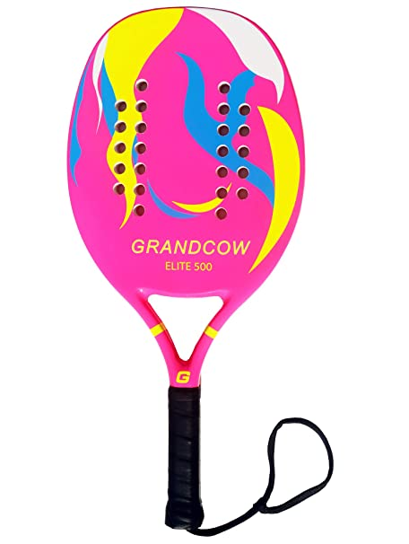 Amazon.com : GRANDCOW Beach Tennis Paddle Racket Carbon Fiber with EVA Memory Foam Core Tennis Padel (Black) : Sports & Outdoors