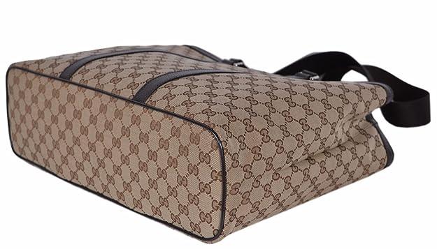 9c7f7c9ff8b Amazon.com  Gucci Canvas GG Guccissima Borsa Donna Large Crossbody Tote Bag  (449169 Beige)  Shoes