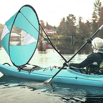 "GFEU Downwind Kayak – Vela de Pádel, 42"" Portátil Plegable Kayak Viento Vela compacta"