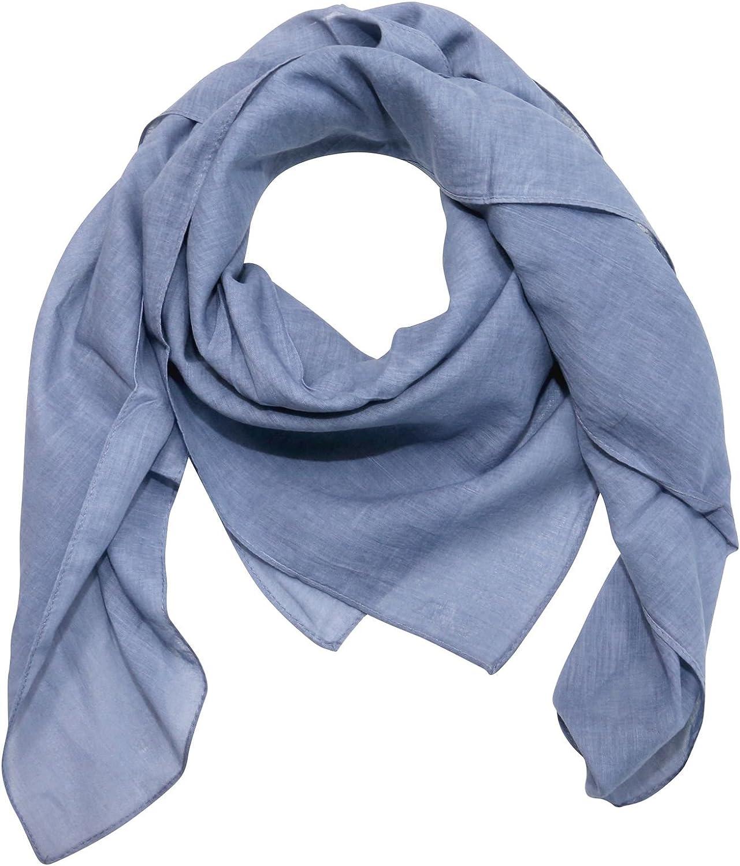 100x100 cm Tuch Schal 100/% Baumwolle Farbe blau taubenblau Melange-Look Superfreak/® Baumwolltuch