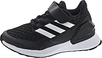 adidas RapidaRun EL K Black/White Synthetic Child Trainers Shoes
