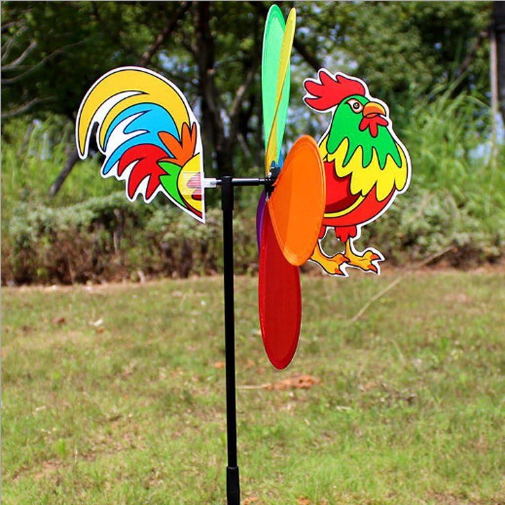 Fenteer Nouveau 3D Animaux Peacock Wind Moulin /À Vent Whirligig Garden Party Decor Chenille