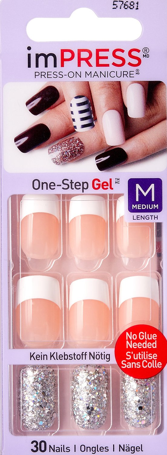 **NEW** KISS imPRESS VEXED & VICIOUS Medium Length by Broadway Press-On Manicure Nails