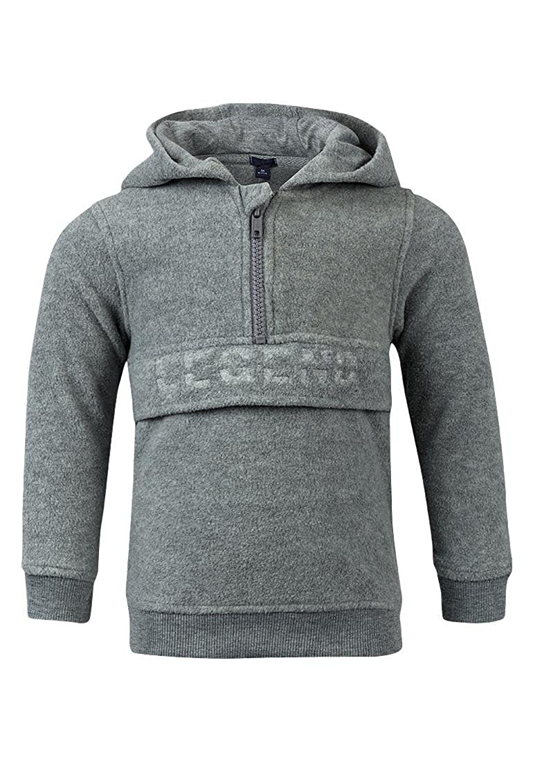 Boys Grey Fleece Hoodie