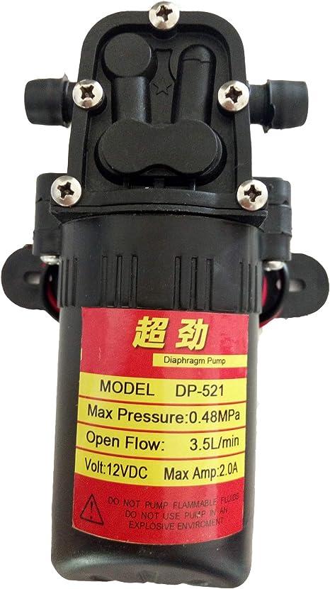 SEAFLO 12V DC 1.5 GPM 80 PSI Diaphragm Water Pressure Pump for Marine Boat RV