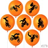 64 Pieces Dirt Bike Party Decorations Latex Balloons Motocross Game Birthday Balloons Party Supplies with 2 Rolls…