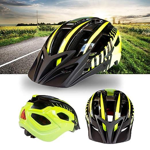 elegantstunning - Casco de Seguridad Unisex para Bicicleta con ...